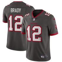 Mens Tampa Bay Buccaneers Tom Brady Nike Pewter Alternate Limited NFL Jersey 2021