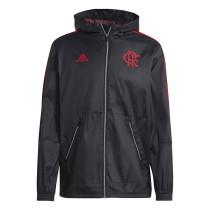 Mens Flamengo All Weather Windrunner Jacket Black II 2021/22