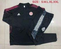 Mens S. C. Internacional Training Suit Black - Red 2021/22