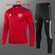 Kids Arsenal Jacket + Pants Training Suit Red 2021/22