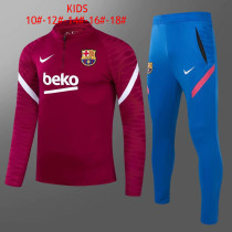 Kids Barcelona Training Suit Red 2021/22