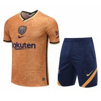 Mens Barcelona Short Training Suit Gold 2021/22