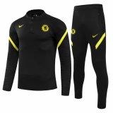 Mens Chelsea Training Suit Black 2021/22