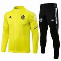 Mens S. C. Internacional Jacket + Pants Training Suit Yellow 2021/22