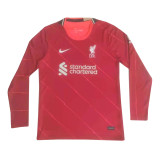 Mens Liverpool Home Jersey Long Sleeve 2021/22