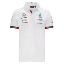 Mens Mercedes AMG Petronas F1 Team Polo - White 2021
