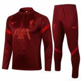 Mens Liverpool Training Suit Burgundy 2021/22