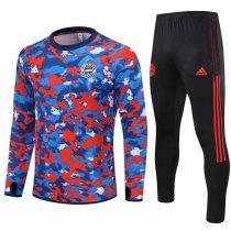 Mens Bayern Munich Training Suit Red Pattern 2021/22