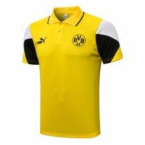 Mens Borussia Dortmund Polo Shirt Yellow 2021/22