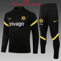 Kids Chelsea Training Suit Black 2021/22