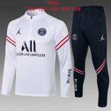 Kids PSG x Jordan Training Suit White II 2021/22