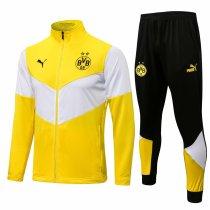 Mens Borussia Dortmund Jacket + Pants Training Suit Yellow 2021/22