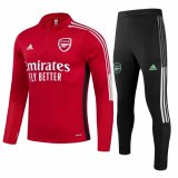 Mens Arsenal Training Suit Red 2021/22