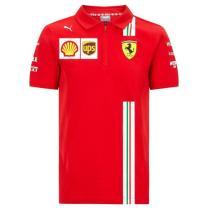 Mens Scuderia Ferrari F1 Team Polo - Red 2021