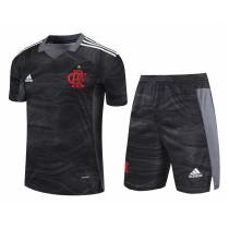 Mens Flamengo Goalkeeper Black Jersey + Shorts Set 2021/22
