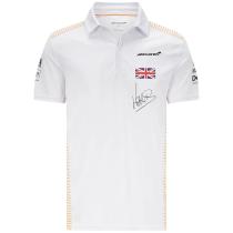 Mens McLaren Lando Norris F1 Team Polo - White 2021