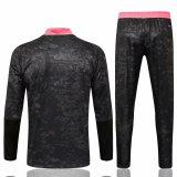 Mens Real Madrid Training Suit Black - Pink 2021/22