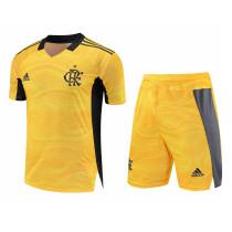 Mens Flamengo Goalkeeper Yellow Jersey + Shorts Set 2021/22