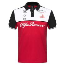 Mens Alfa Romeo Sauber F1 Team Polo - Red 2021