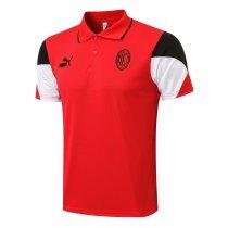 Mens AC Milan Polo Shirt Red II 2021/22