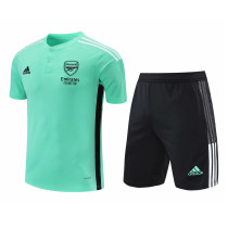 Mens Arsenal Short Training Suit Green II 2021/22