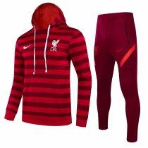 Mens Liverpool Hoodie Sweatshirt + Pants Suit Red Stripe 2021/22