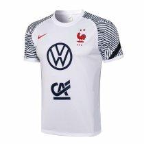 Mens France Short Training Jersey White 2021/22