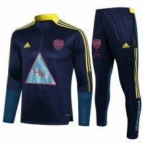 Mens Arsenal x Human Race Training Suit Navy 2021/22