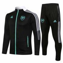 Mens Arsenal Jacket + Pants Training Suit Black 2021/22