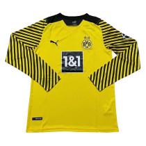 Mens Borussia Dortmund Home Jersey Long Sleeve 2021/22