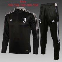 Kids Juventus Training Suit Black - Grey 2021/22