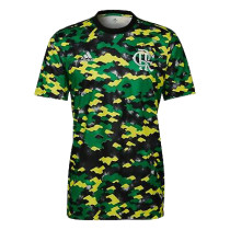 Mens Flamengo Short Training Jersey Green 2021/22