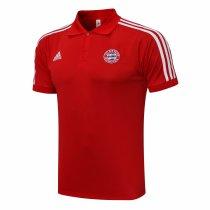 Mens Bayern Munich Polo Shirt Red 2021/22
