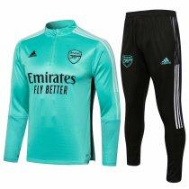 Mens Arsenal Training Suit Green 2021/22