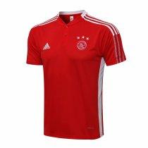 Mens Ajax Polo Shirt Red 2021/22