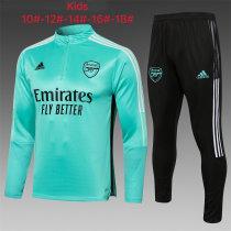 Kids Arsenal Training Suit Green 2021/22