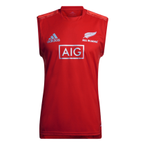 Mens New Zealand All Blacks Primeblue Performance Rugby Training Singlet 2021 - Red