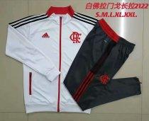 Mens Flamengo Jacket + Pants Training Suit White 2021/22