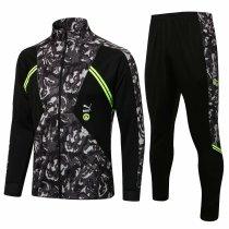 Mens Borussia Dortmund Jacket + Pants Training Suit Black II 2021/22