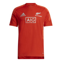 Mens New Zealand All Blacks Rugby Red Performance T-Shirt 2021