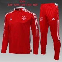 Kids Ajax Training Suit Red 2021/22
