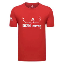 Mens Welcome to Manchester United Ronaldo T-Shirt Red 2021/22