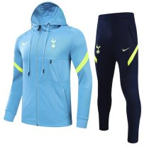 Mens Tottenham Hotspur Hoodie Jacket + Pants Training Suit Blue 2021/22
