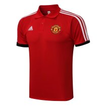 Mens Manchester United Polo Shirt Red 2021/22
