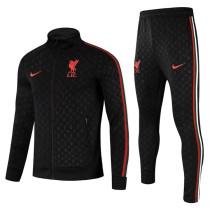Mens Liverpool Jacket + Pants Training Suit Black 2021/22