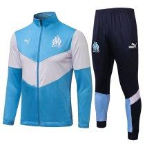 Mens Olympique Marseille Jacket + Pants Training Suit Light Blue 2021/22