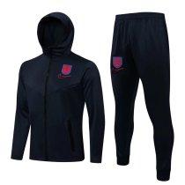 Mens England Hoodie Jacket + Pants Training Suit Navy 2021/22