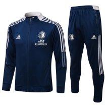 Mens Feyenoord Jacket + Pants Training Suit Navy 2021/22