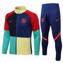 Mens Barcelona Jacket + Pants Training Suit Colorful 2021/22