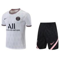 Mens PSG Short Training Suit White 2021/22